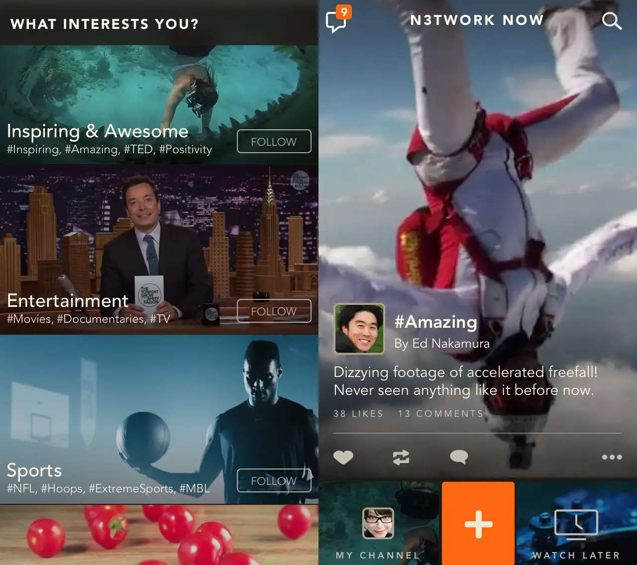 Network TV is a new way to browse and find internet videos.