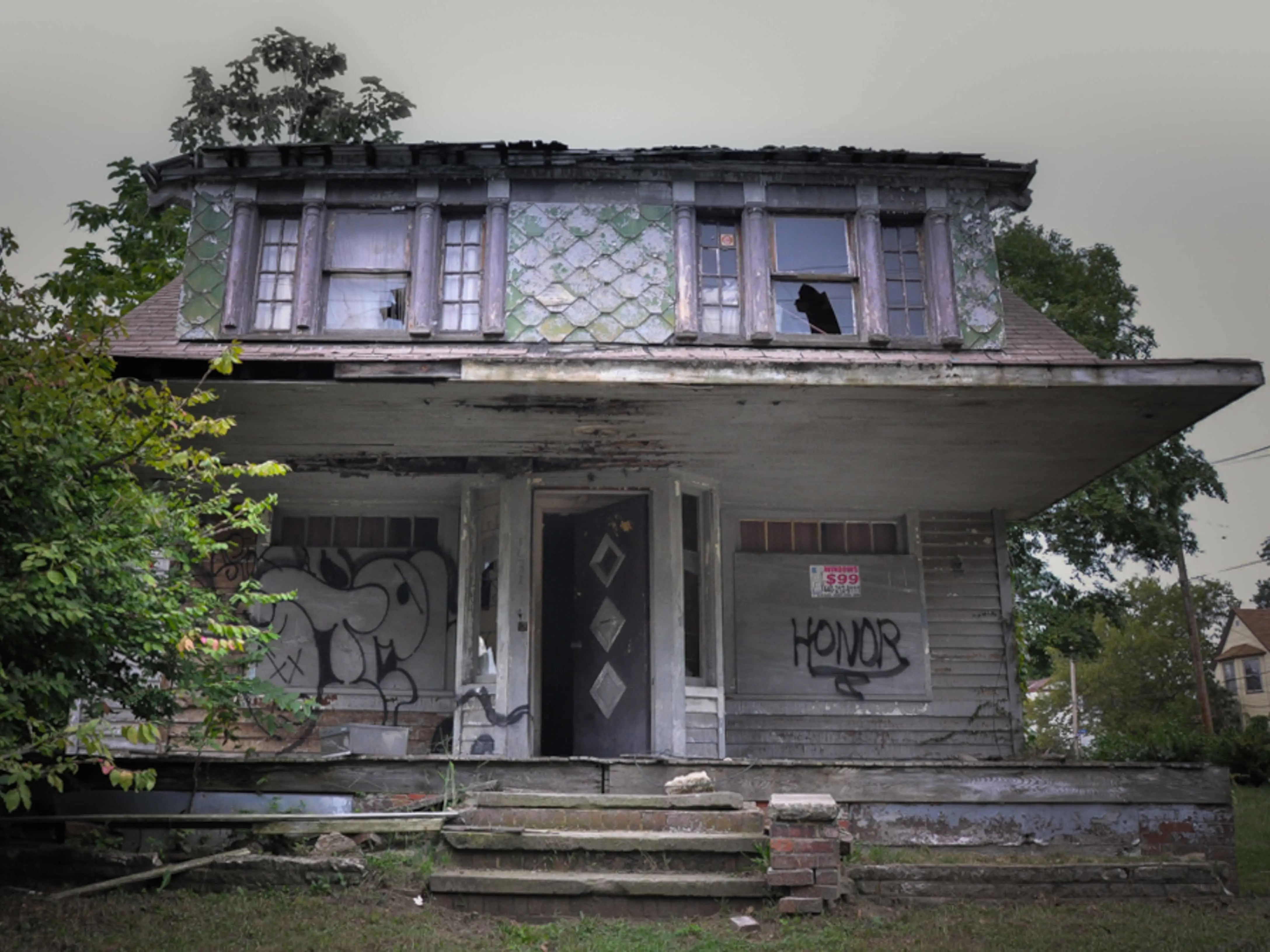 This abandoned East Cleveland, Ohio house where serial Anthony Sowell grew up has been demolished. Before its destruction, however, nearby residents refused to walk on the sidewalk in front of the home because they said ghastly noises emanated from its creepy exterior.