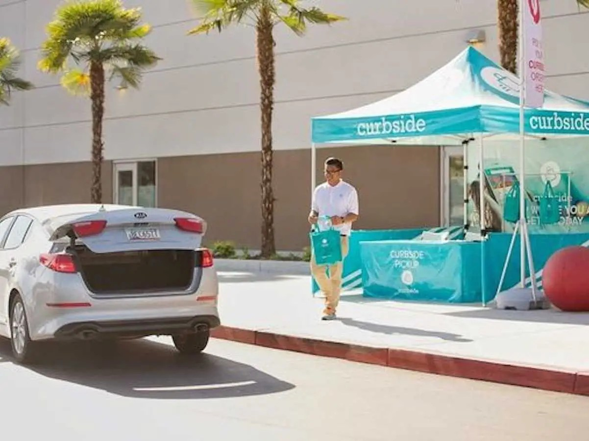 Curbside lets you order stuff on your phone and pick it up at the store without leaving your car.