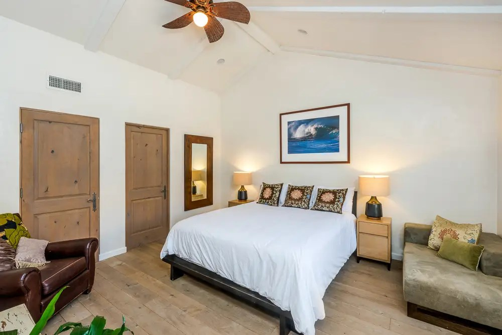Aside from the master bedroom, there are four other bedrooms in the home.