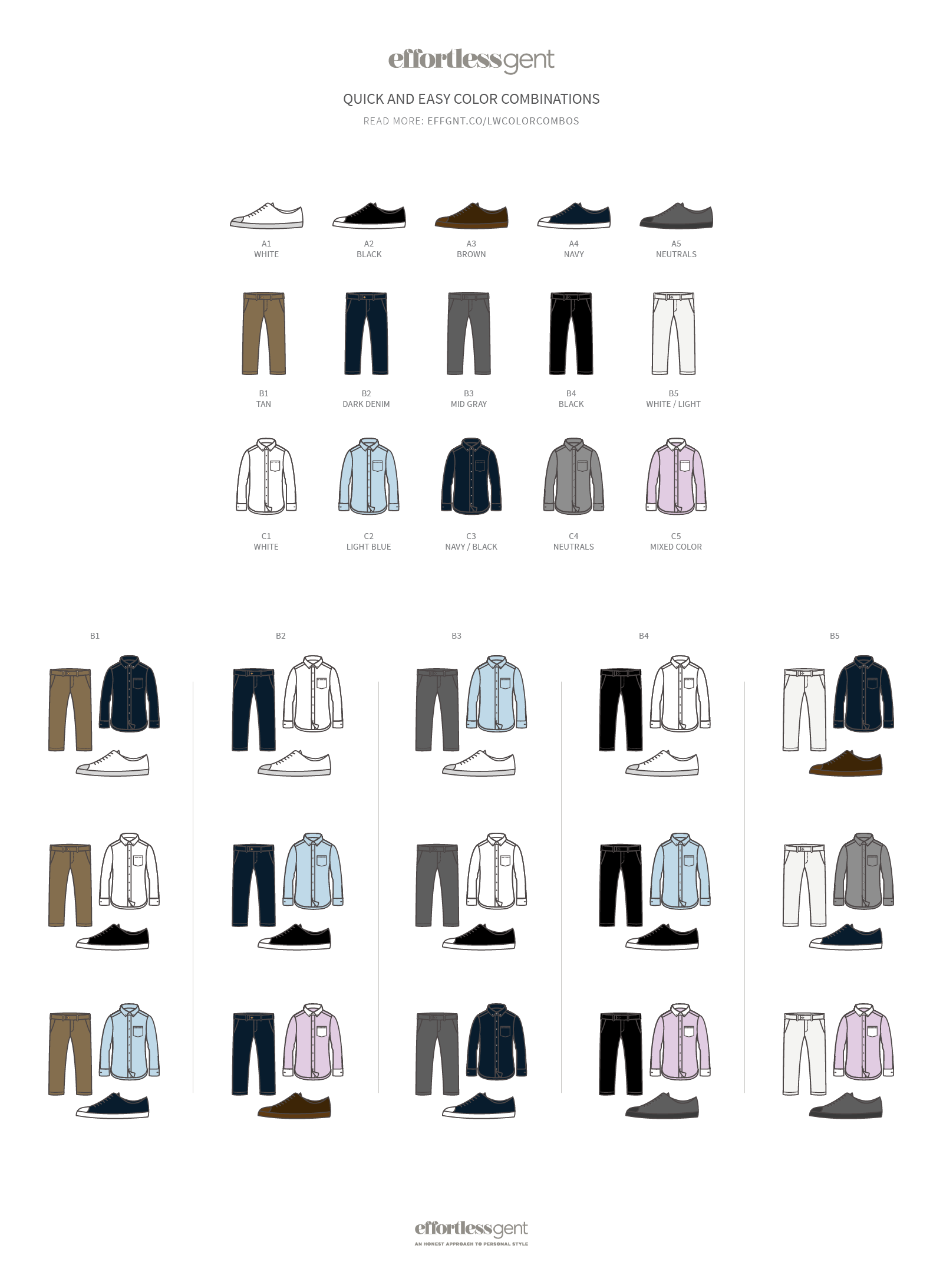 Color Combination Matching Infographic