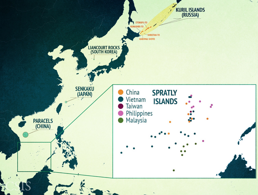 south china sea csis map