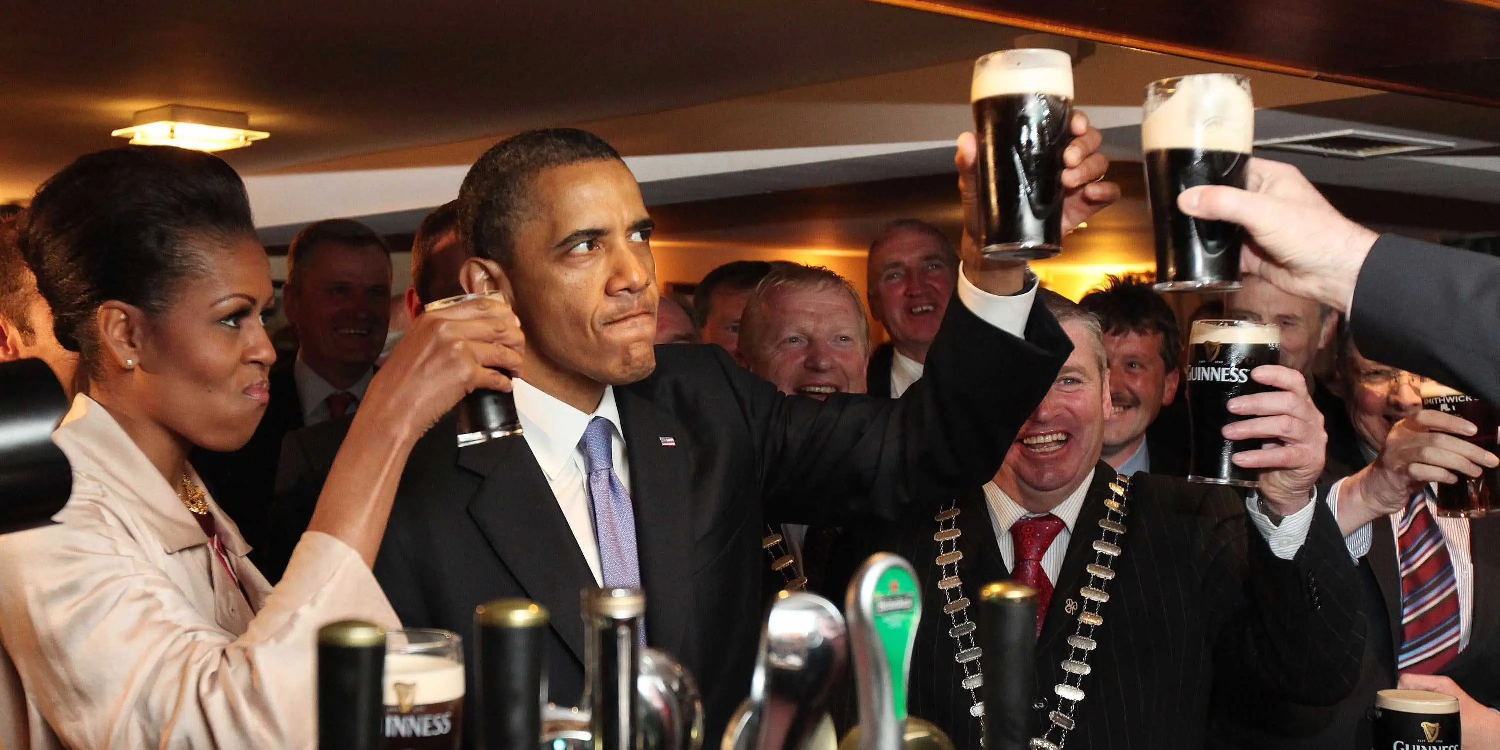 Image result for barack obama drink picture