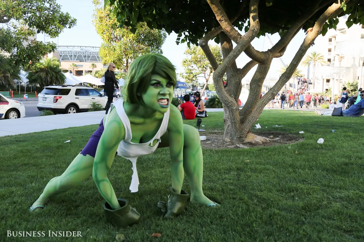 Looks as if Iron Man made this femme Hulk angry.