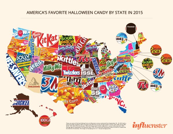 Favorite Halloween candy by state - Business Insider