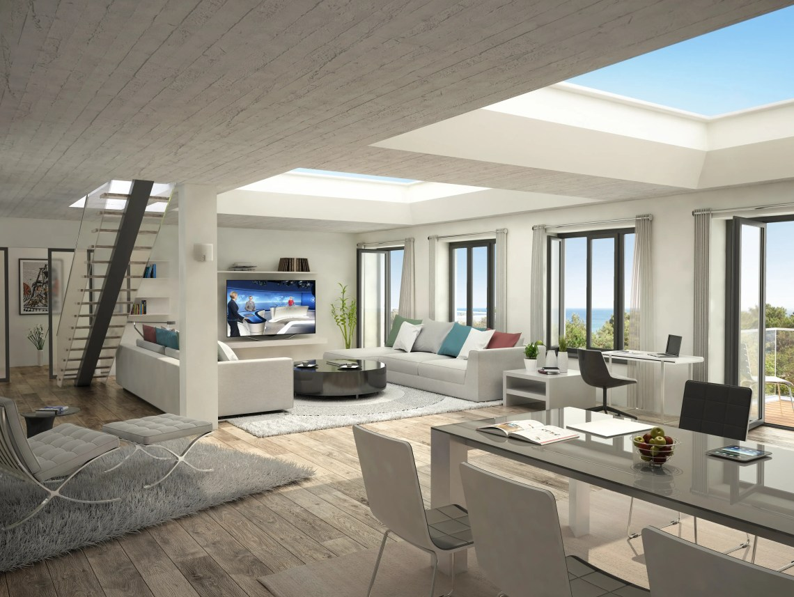 Penthouse suites, like this one, will run on the pricier end ...