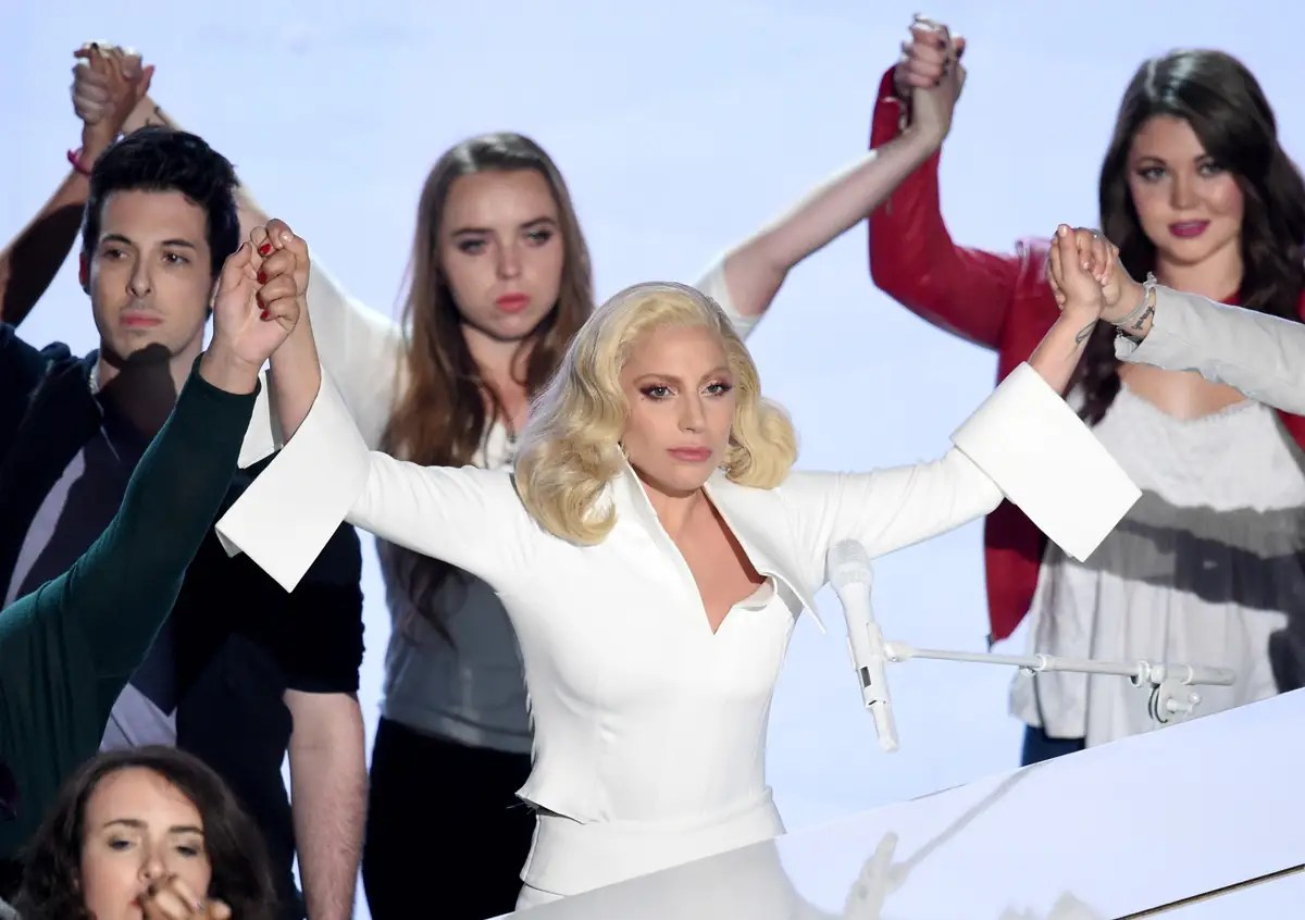 "BEST: Lady Gaga's performance of her nominated song from the documentary ""The Hunting Ground"" — which looks at rape on college campuses — was the most moving moment of the night. She was accompanied by sexual-assault survivors."