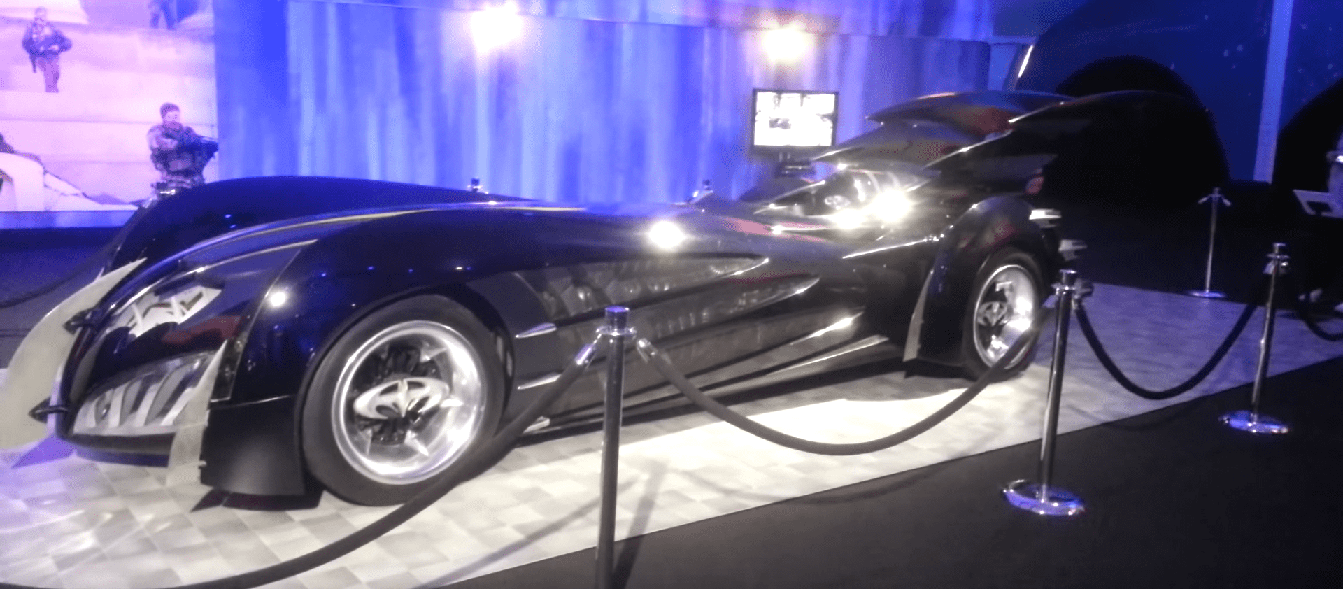 """Batman & Robin"" (1997) was panned by critics, but its Batmobile isn't the worst ever. It has a similar shape to previous live-action Batmobiles, but is black instead of the eerie blue glow of the 1995 design."
