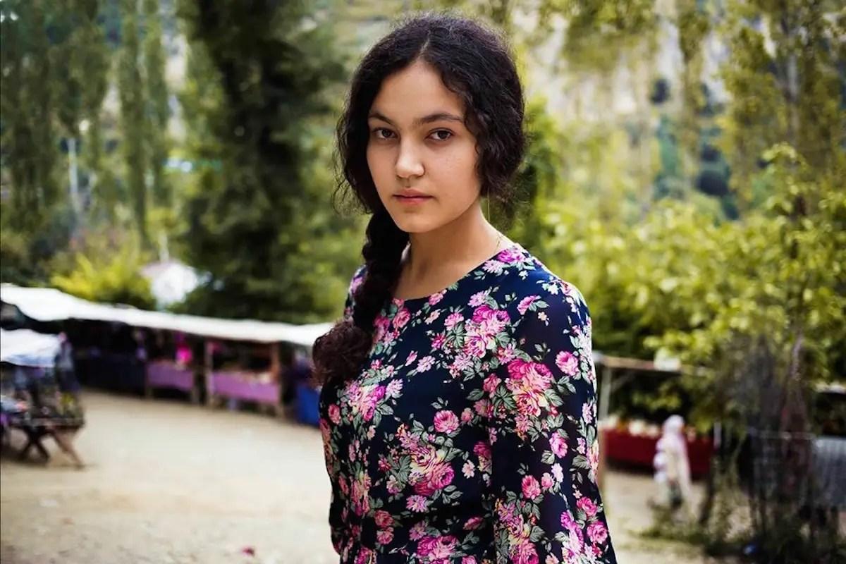 An Uzbek woman in Kyrgyzstan.