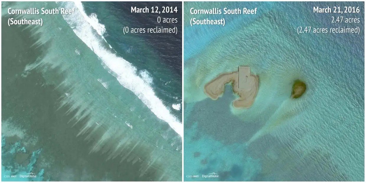 Cornwallis South Reef (Southeast): 2014 - 2016