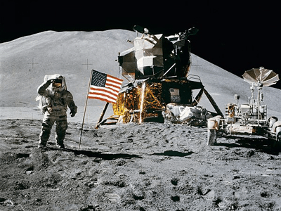 Moon landing Why people believe in conspiracy theories Why people believe in conspiracy theories 600px apollo 15 flag  rover  lm  irwin