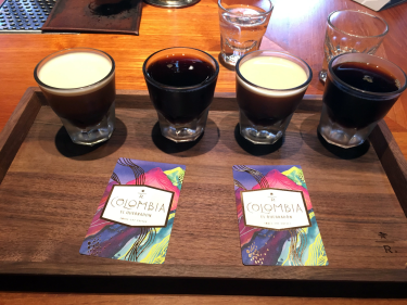 Customers can order coffee flights, such as the cold-brew flight to test cold brew next to nitro cold brew.