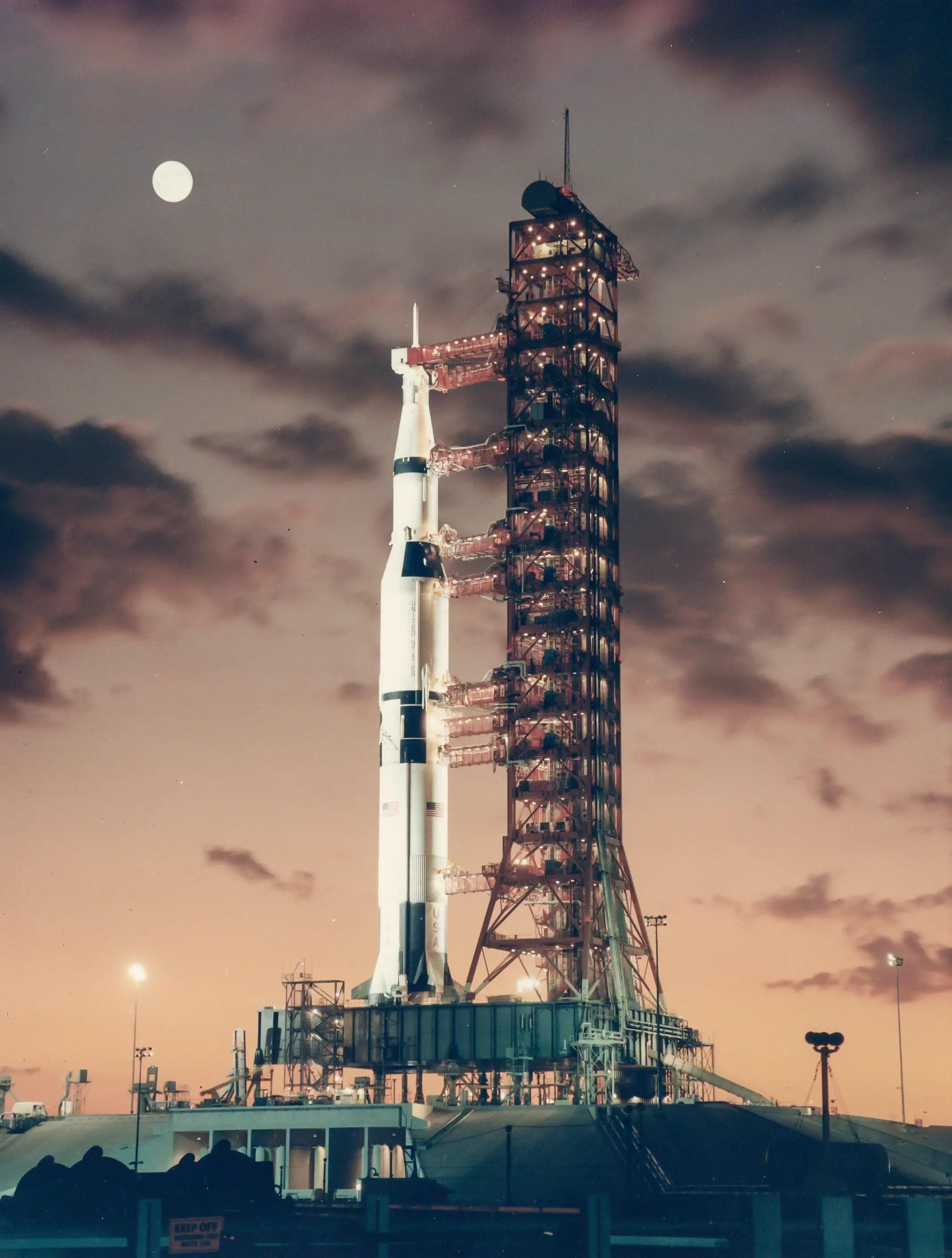 Saturn V rocket dawn 1967