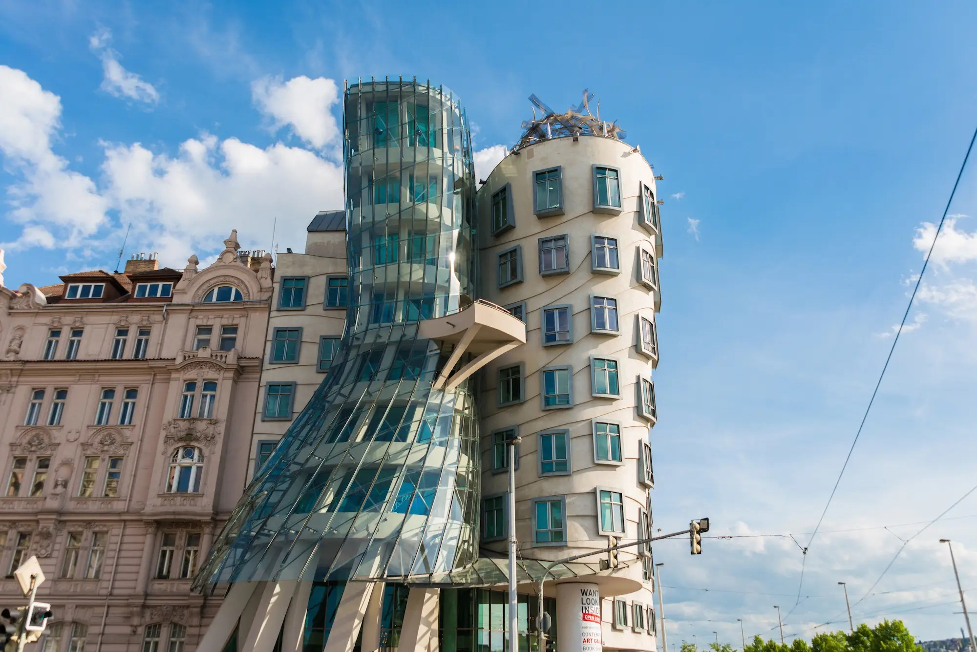 "31. The 'Dancing House"" in Prague was created by Frank Gehry to replace a neo-renaissance building that had been bombed in World War Two."