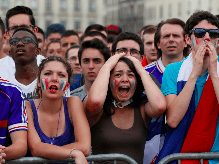 16. France — French workers are notorious for going on strike more often than workers in pretty much any other nation in the West. That helps make France the developed nation at the highest risk of major civil unrest, according to Verisk Maplecroft.