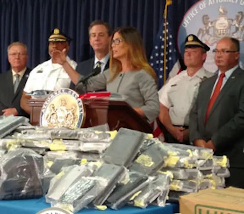 Philadelphia drug bust press conference