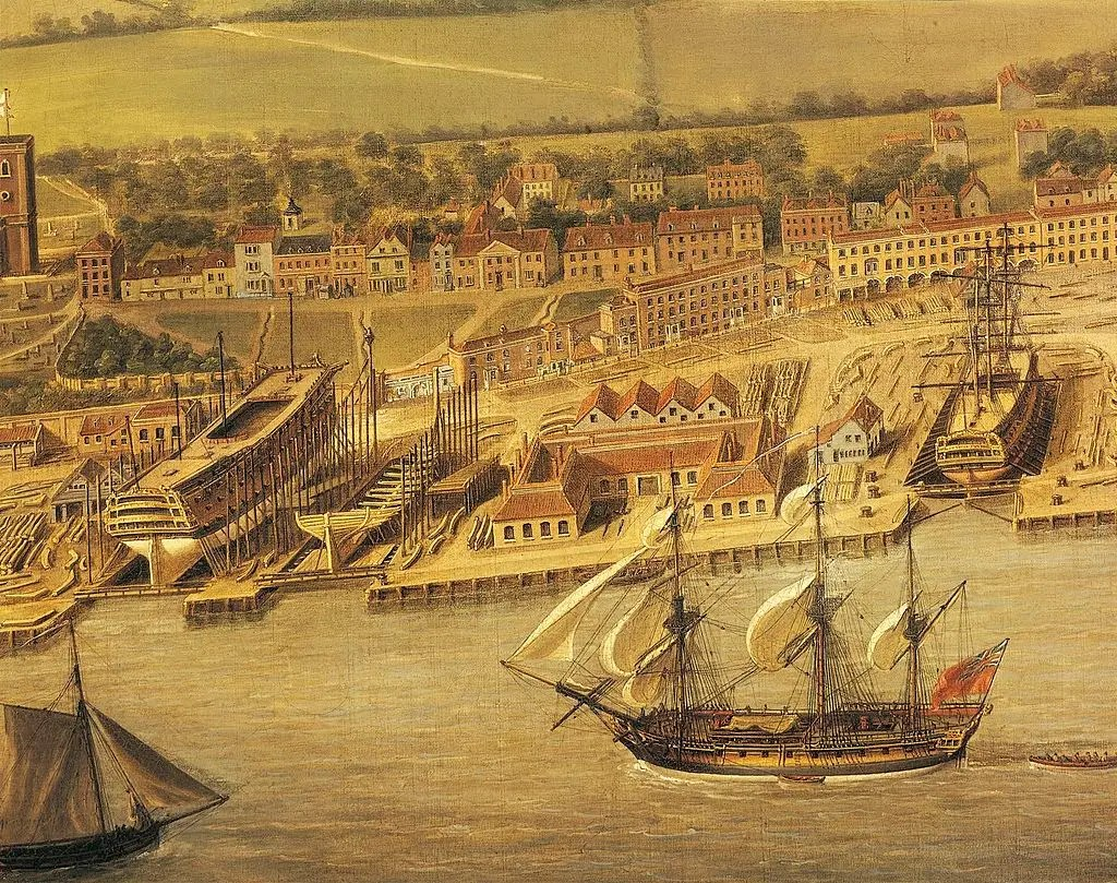 By the 11th century, London was the largest port in England.