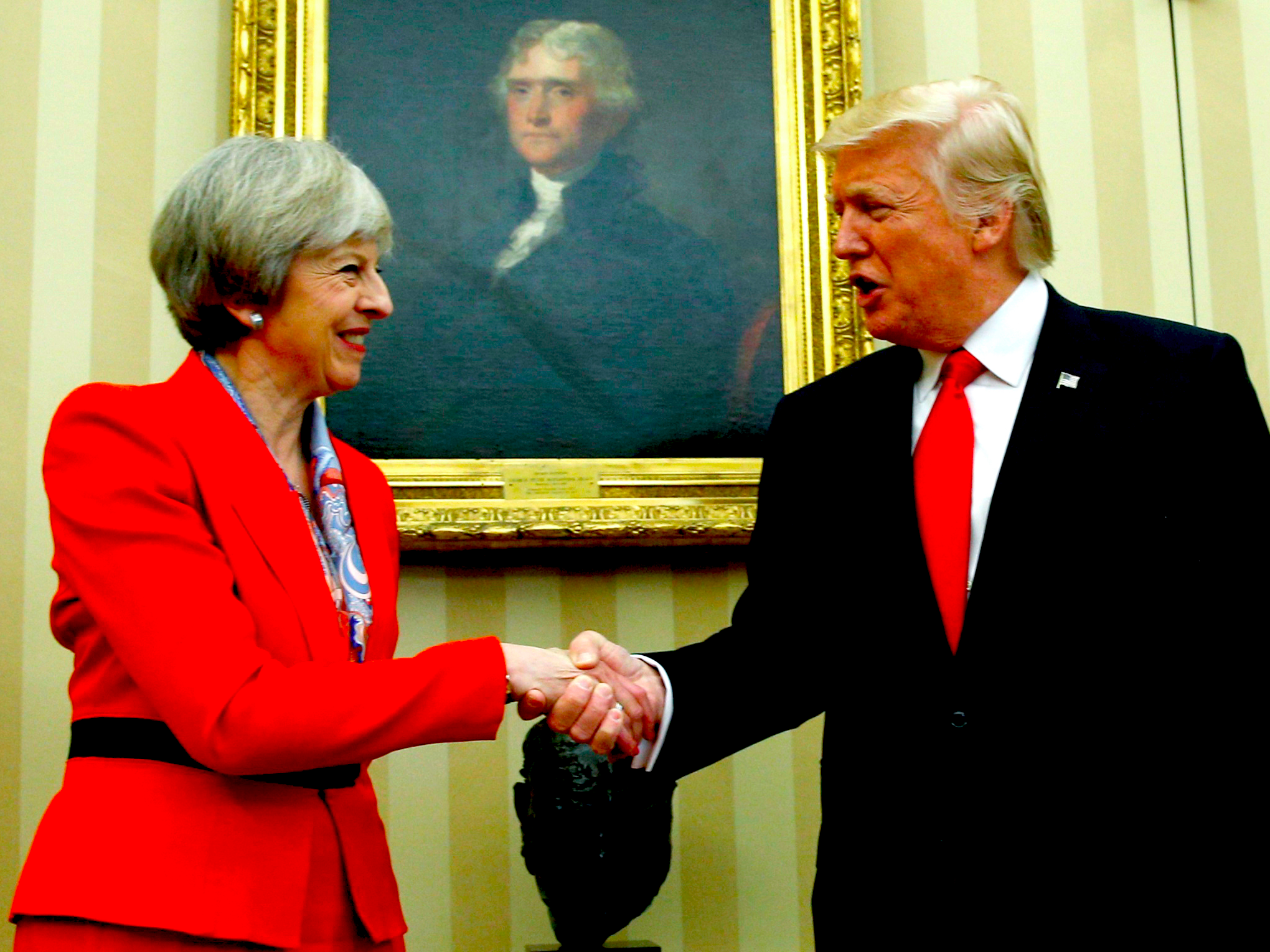Image result for trump and may
