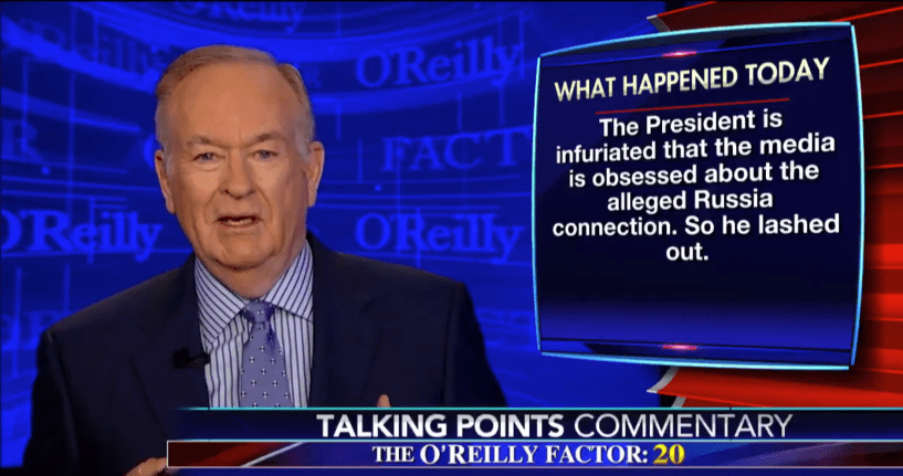 Bill o'reilly talking points