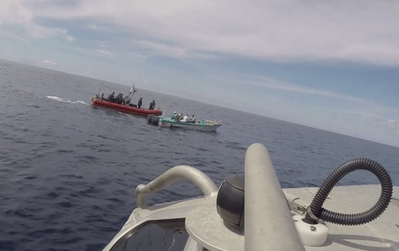 US Coast Guard cutter Stratton Pacific Ocean drug bust seizure