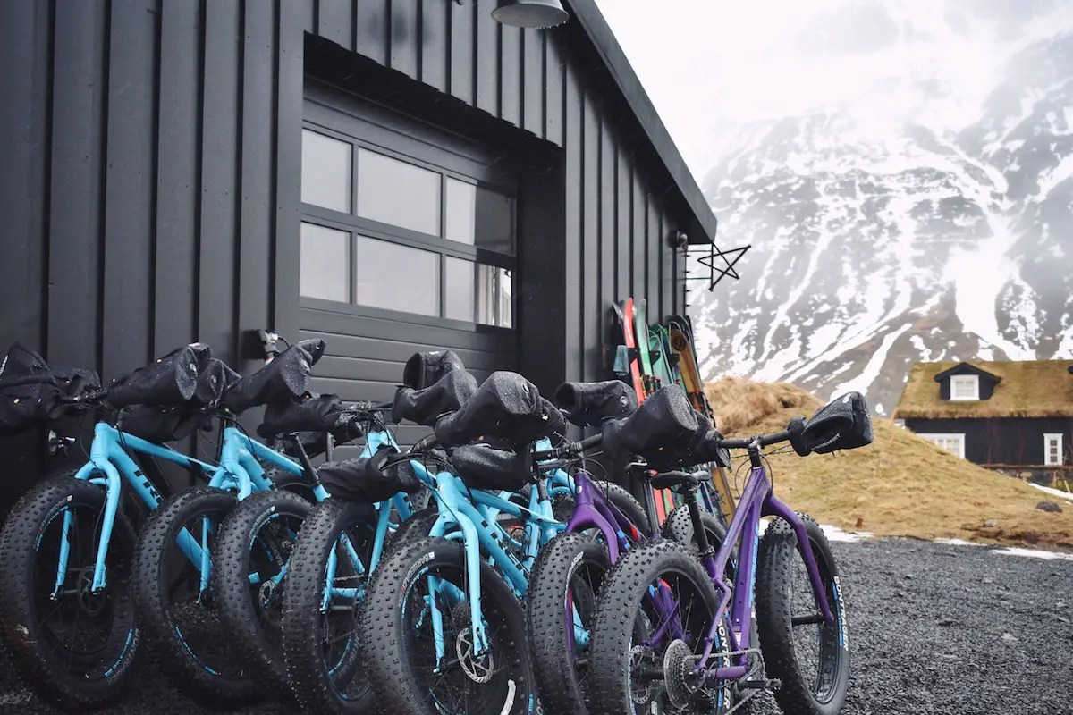 There are also bikes provided for guests to go on their own adventures.