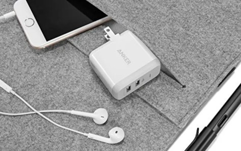 A multi-port wall charger