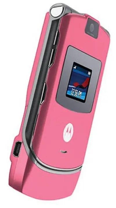 Motorola Razr pink