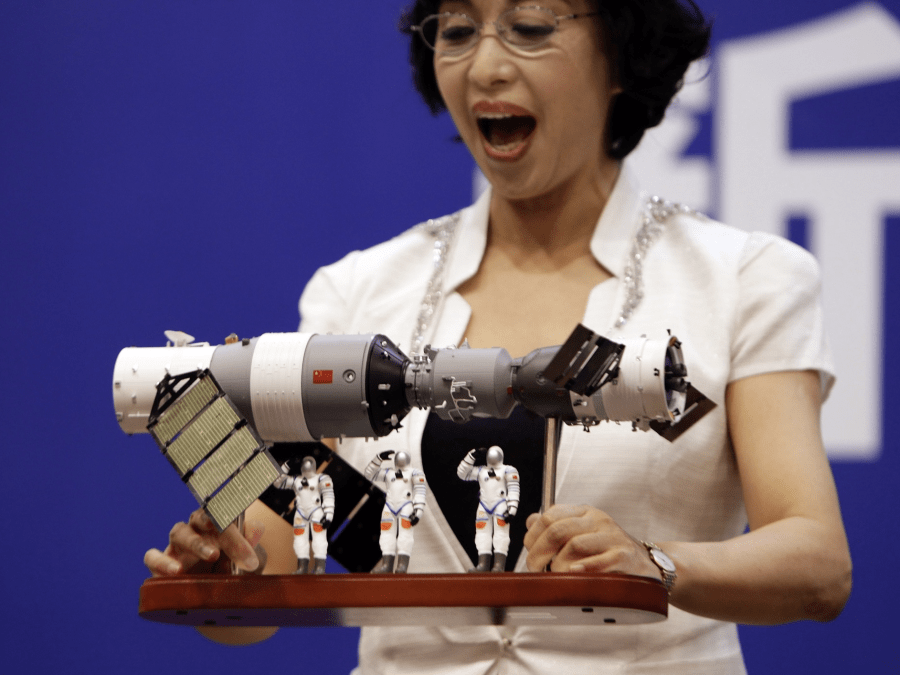 china tiangong 1 space station model reuters