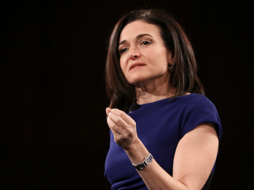 4. Sheryl Sandberg: COO, Facebook, EE. UU.