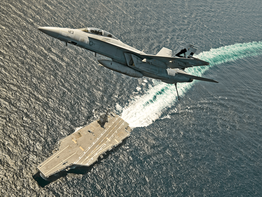 The USS Gerald R. Ford, the first of the US Navy's Gerald R. Ford class of aircraft carriers, is the largest and most advanced ship in the US fleet. It was commissioned in July and is undergoing trials and exercises before it fully joins the fleet.