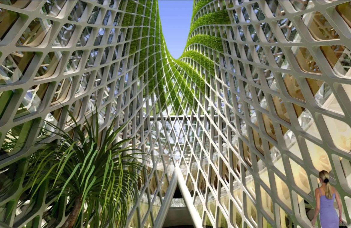 Callebaut, a Belgian architect, is known for his greenery-filled structures.