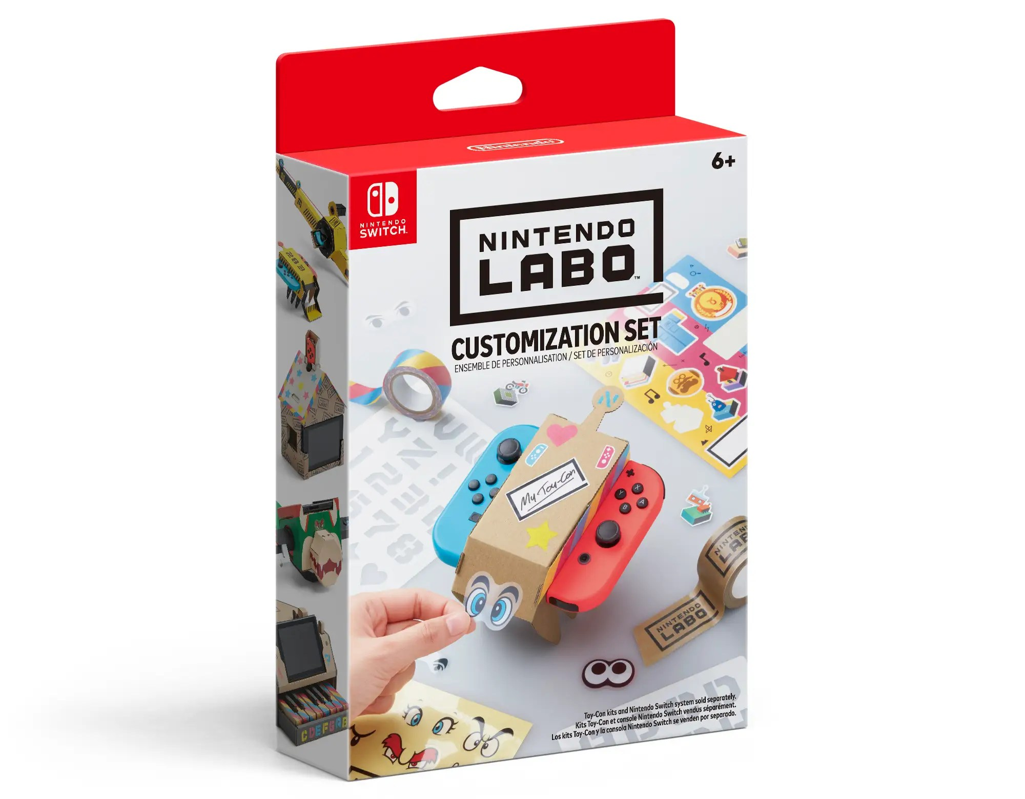 And yes, of course, you can customize your Labo. You could always just straight up draw on it with pen, crayon, pencil, or whatever else. But if you want something a bit more fancy, Nintendo's selling customization sets for $9.99.