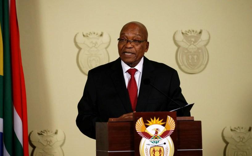 Zuma resigns presidency