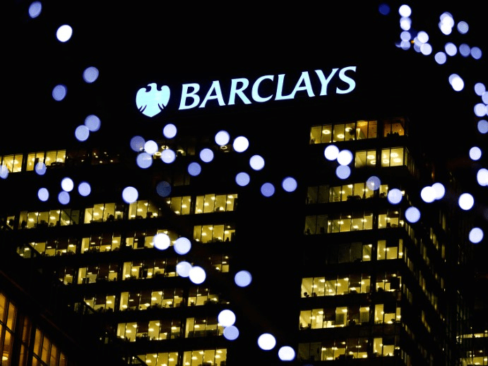 FILE PHOTO: The Barclays headquarters building is seen in the Canary Wharf business district of east London February 6, 2013.  REUTERS/Neil Hall/File Photo