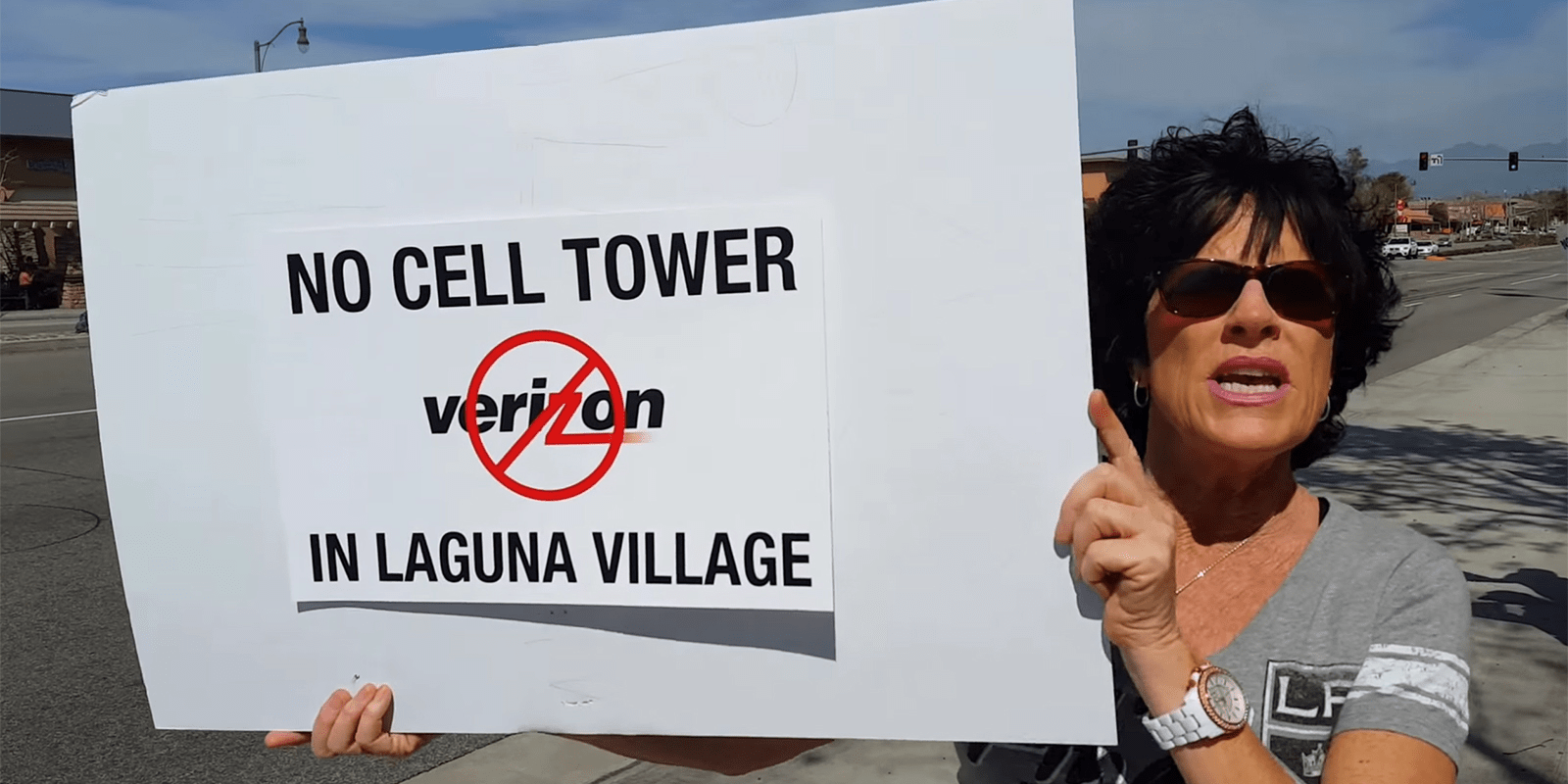 verizon cell tower protest