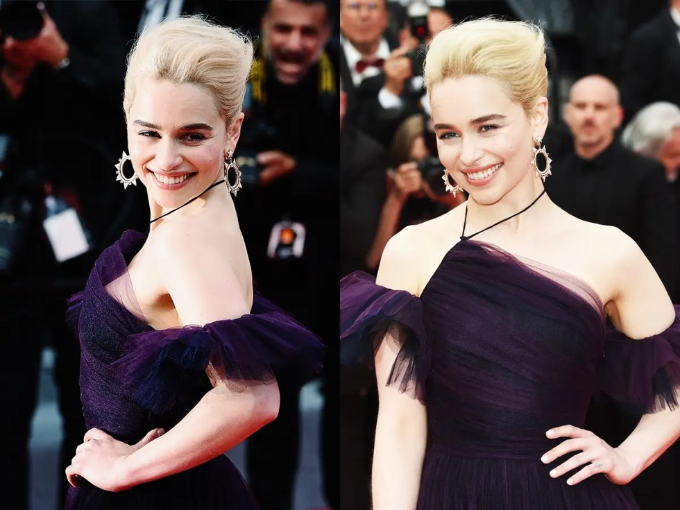 Emilia Clarke Solo premiere red carpet Cannes Star Wars Dior gown
