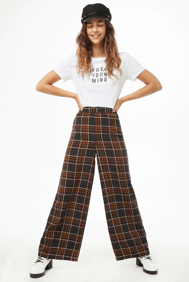 forever 21 plaid pants