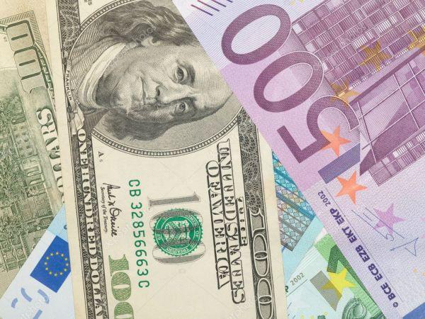 Фон деньги от долларов и евро b — Стоковое фото ...