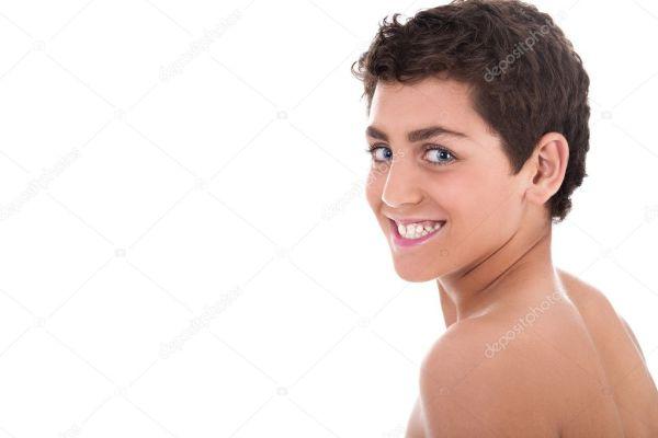 Топлесс молодых подросток улыбается — Стоковое фото ...
