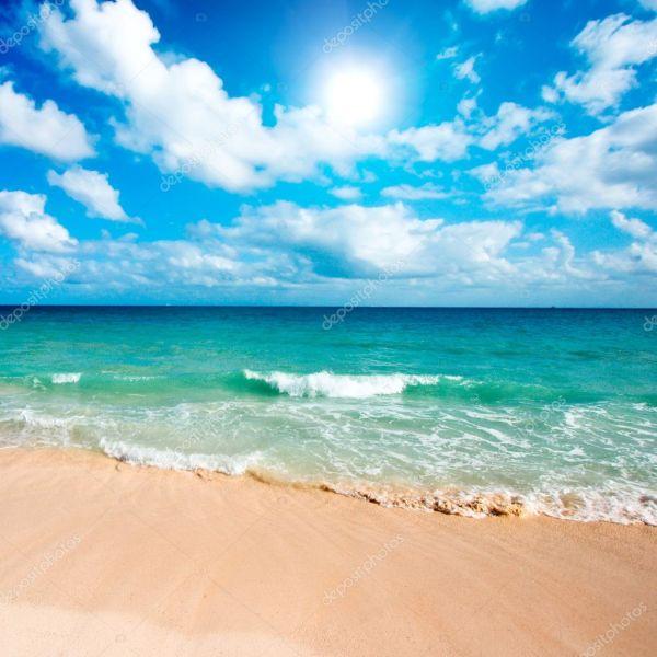 Картинки красивые море пляж. Красивый пляж и море ...