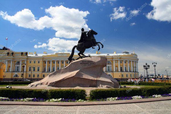 Памятник Петру I в Санкт-Петербурге — Стоковое фото ...