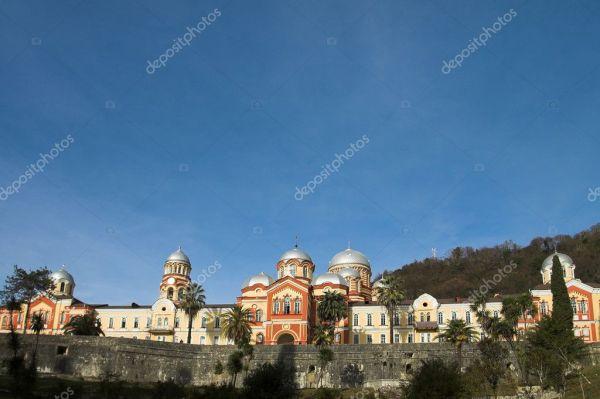 Христианский монастырь Новый Афон — Стоковое фото ...