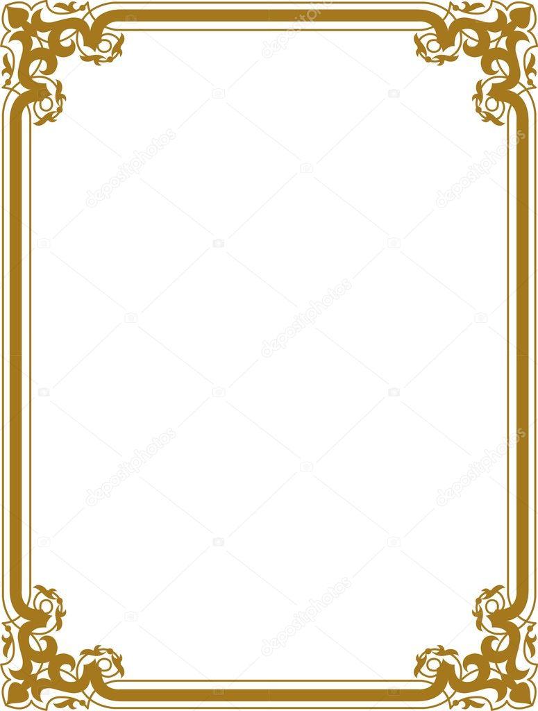Golden Border Stock Vector SHAZAD 1462249