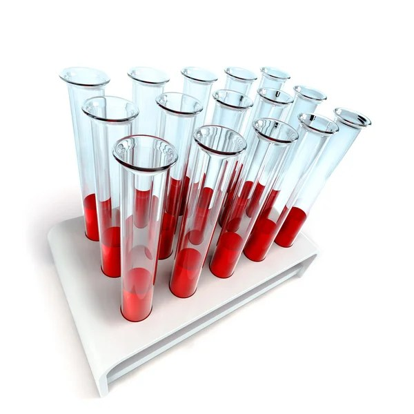 Medical test-tube with blood samples by Dmitry Kutlaev - Stock Photo