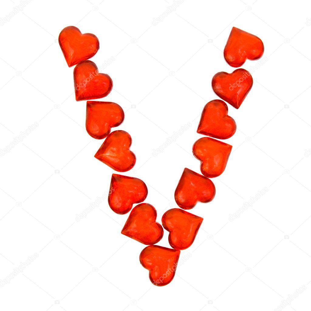 Alphabet Valentine S Day Letter V