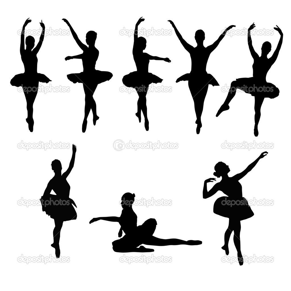 Silhuetas Dos Bailarinos