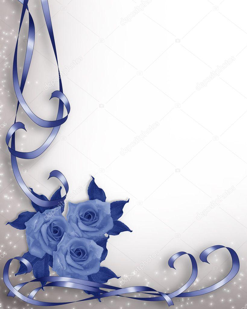 wedding invitation background blue roses stock photo image by c irisangel 2088525