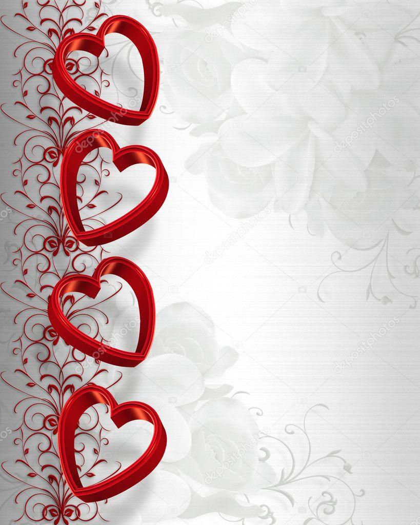 Valentines Day Hearts Border Stock Photo Irisangel