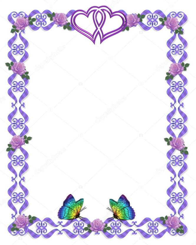 Lavender Roses With Gold Accents Border Design Element For Valentine Or Wedding Background Invitation Frame Over White Satin Copy E