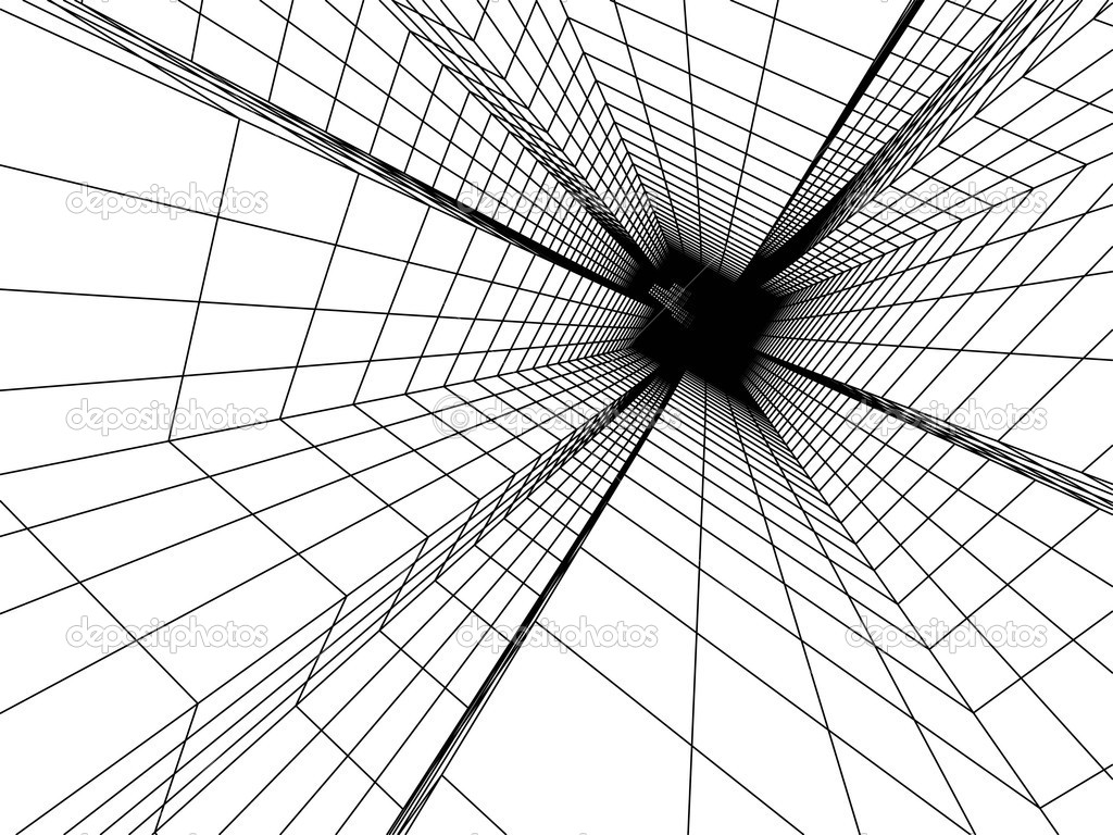 3d Sketch Monochrome Architecture